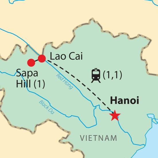 Hanoi Sapa Map